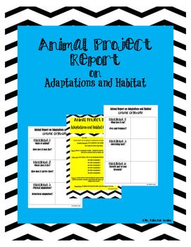 Animal Report on Adaptations and Habitat