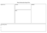 Animal Report plan template and specifications
