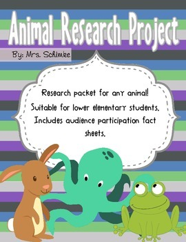 Animal Report: with audience participation fact sheet!