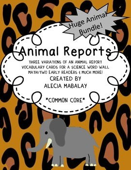Animal Reports (Animal Bundle)