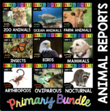 Animal Reports BUNDLE - Informational Reading and Writing Passages Kindergarten