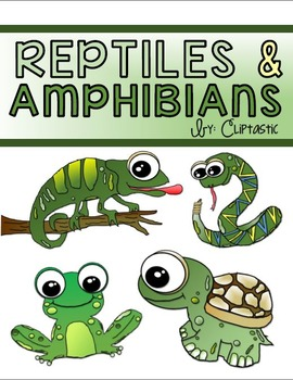 Animal Reptile Amphibian Clipart Freebie by Cliptastic | TpT