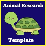 Animal Research Graphic Organizer   Animal Research Report Template