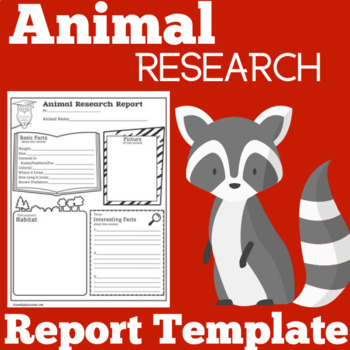 Animal Research  Animal Report  Animal Research Template  Tpt