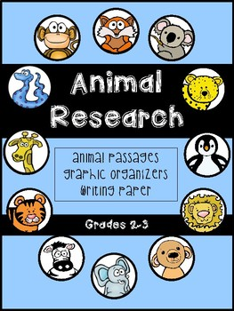 Animal Research Passages and Worksheets