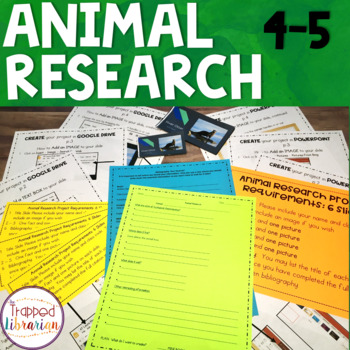 Animal Research:  A scaffolded unit for Fourth & Fifth Grades