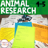 Animal Research:  Fourth & Fifth Grades