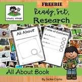 FREE Animal Research All About Book:  Informational Writing