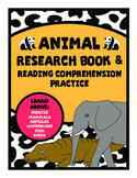 Animal Research Book/Reading Comprehension Practice Special Ed