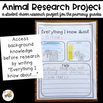 Animal Research Project {Easy Research Booklet}