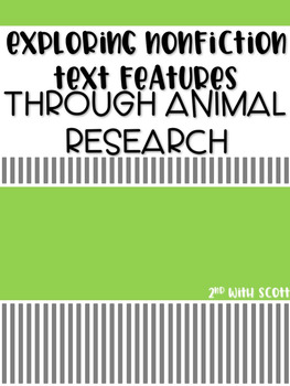 Animal Research Booklet with Non-Fiction Text Features