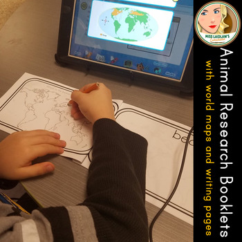 Animal Research Booklets - includes world map and space for student writing