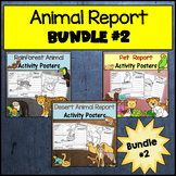 Animal Research Bundle #2: Pets, Desert and Rainforest Animals