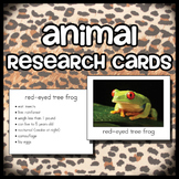 Animal Research Cards