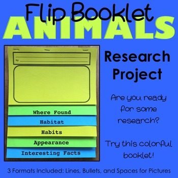 Animal Research Flip Booklet