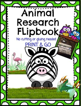 Animal Research Flip Book FREEBIE