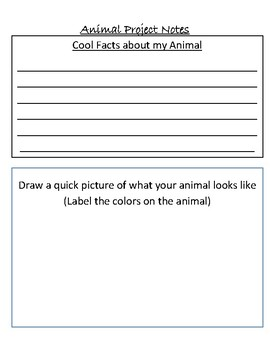 Animal Research Flip Book Project