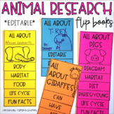 Animal Research Flip Books *EDITABLE*