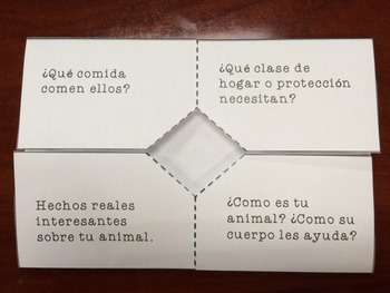 Animal Research Foldable