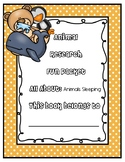Animal Research Fun Packet - Sleeping Patterns