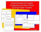 Animal Research Graphic Organizers and Writing Paper Freebie