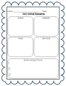 Animal Research Graphic Organizer