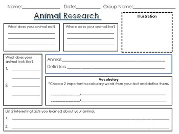 Animal Research Graphic Organizer By Super Hero Teacher border=