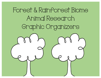 Animal Research Graphic Organizers