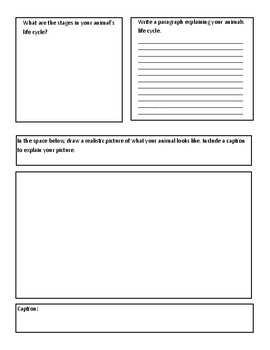 Animal Research/Guided Writing Page