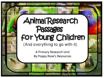 Animal Research Information Cards For Young Children
