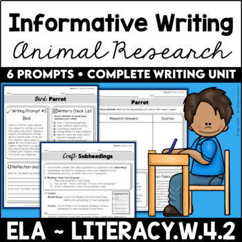Animal Research Informative Writing Unit