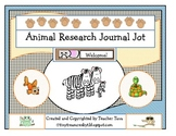 Animal Research Journal Jot (Goes along with First Grade E