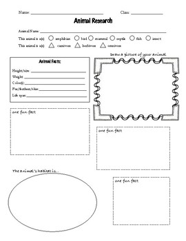 Animal Research Note Taker Or Graphic Organizer By Steam border=