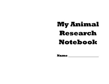 Animal Research Notebook