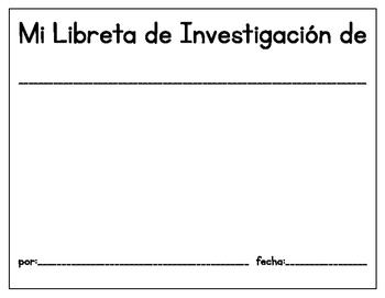 Bilingual Animal Research Notebook -Libreta de Investigacion de Animales