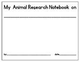 Bilingual Animal Research Notebook -Libreta de Investigaci