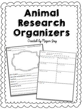 Animal Research Report Organizers
