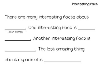 Animal Research Outline
