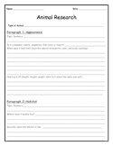 Animal Research Packet Expository Writing (Outline, Publis