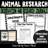 Animal Research Activity PRINTABLE and DIGITAL | Google Slides™