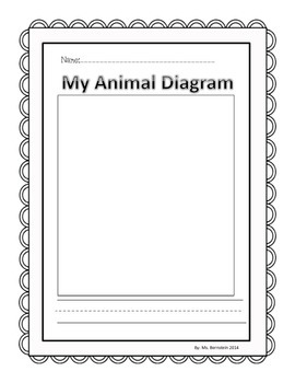 Animal Research Paper Student Planning Pages