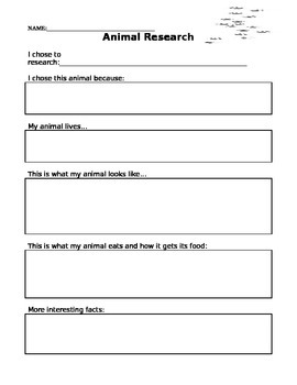 Animal Research Paper Template
