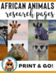 Animal Research Papers ~ Read about Africa Oceans Desert Arctic 99 animals!