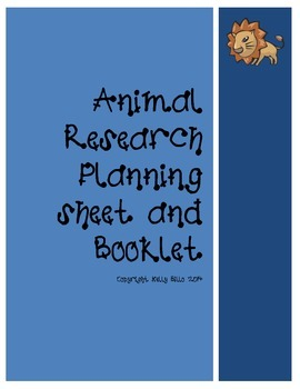 Animal Research Plan sheet and Booklet