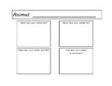 Animal Research Planning Sheet