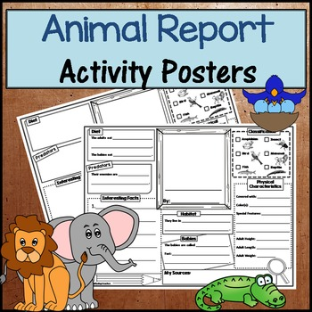 Animal Research Poster Activity