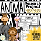 Animal Research Project for Upper Grades