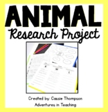 Animal Research Project for Primary Students