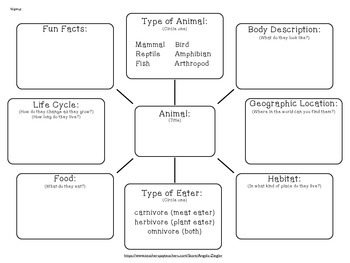 Animals: Informational Writing