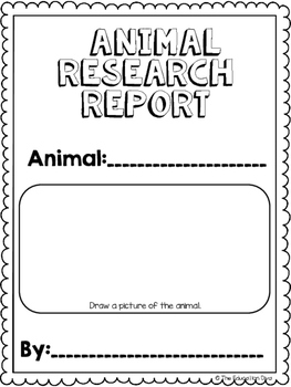 Animal Research Project- Grades 2-4